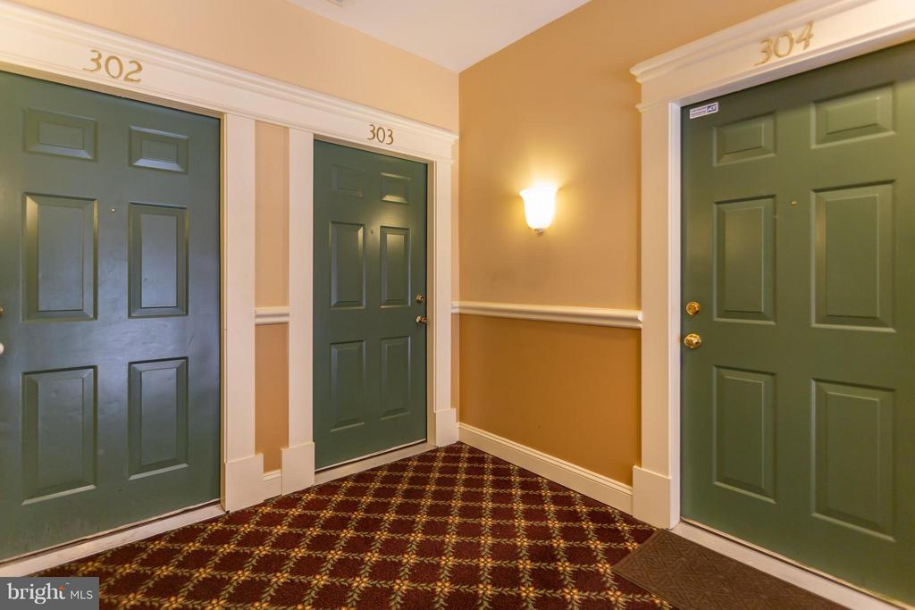 Interior access shelters you from the elements - 11314 WESTBROOK MILL LN #303, FAIRFAX
