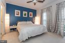 Master bedroom offers privacy by overlooking trees - 11314 WESTBROOK MILL LN #303, FAIRFAX
