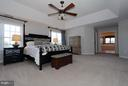 Expansive master bedroom with his/her closets - 40710 JADE CT, LEESBURG
