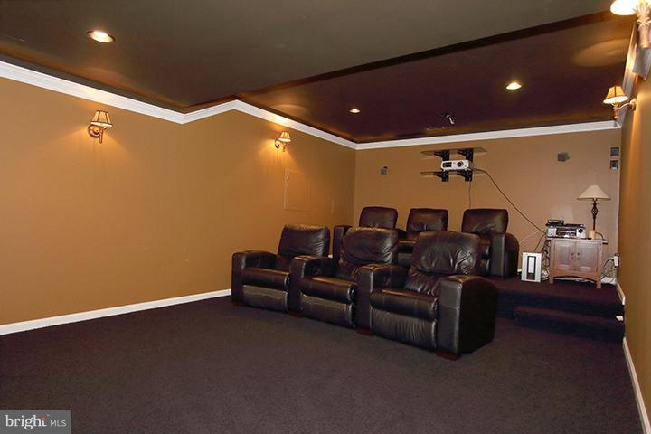 Lower level media room - 40710 JADE CT, LEESBURG