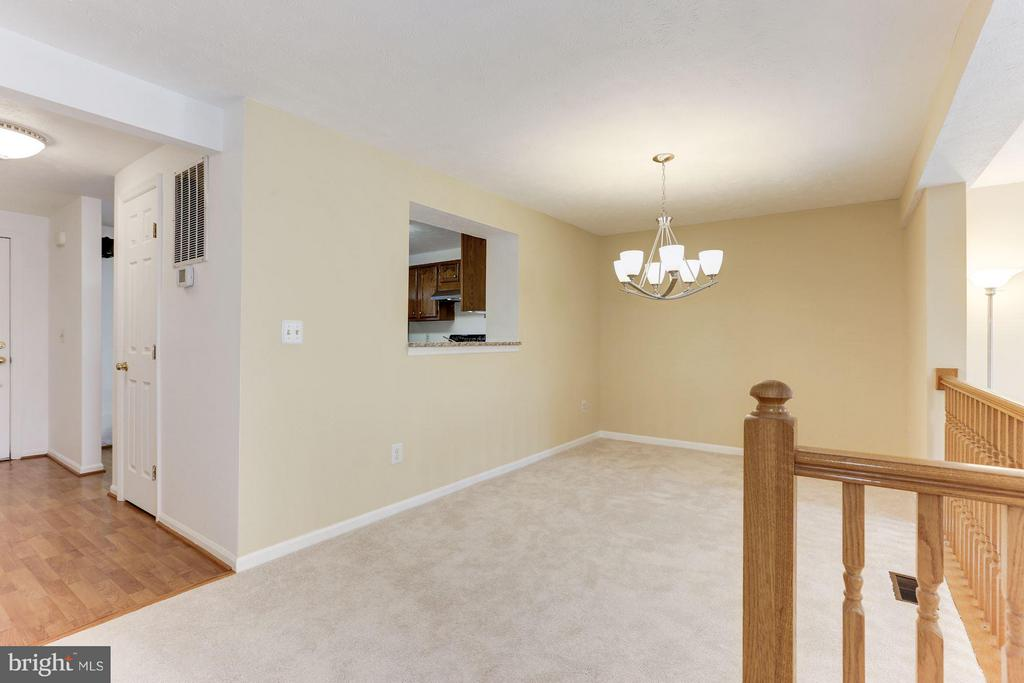 Spacious dining room is open to kitchen and living - 43979 CHOPTANK TER, ASHBURN
