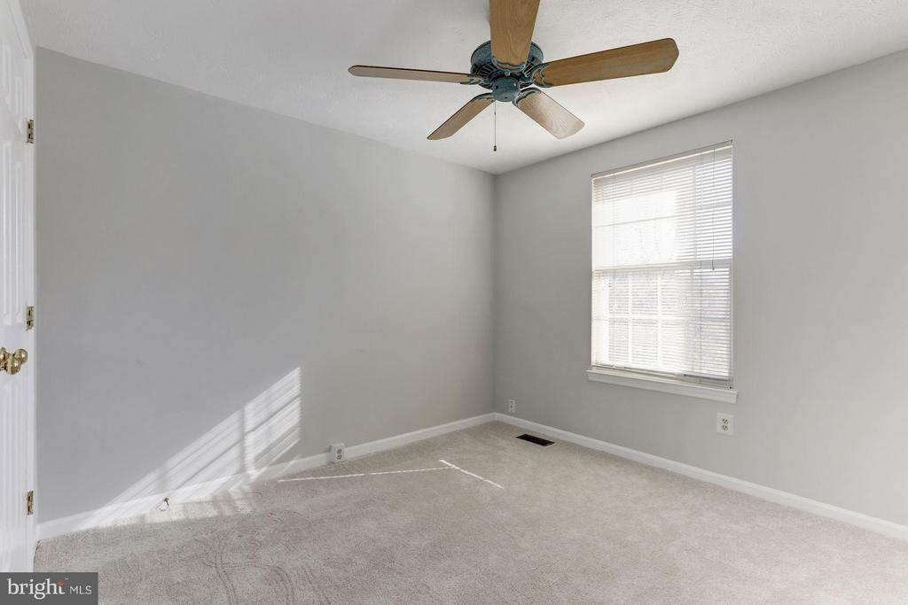 Spacious second bedroom w/ new ceiling fan. - 43979 CHOPTANK TER, ASHBURN