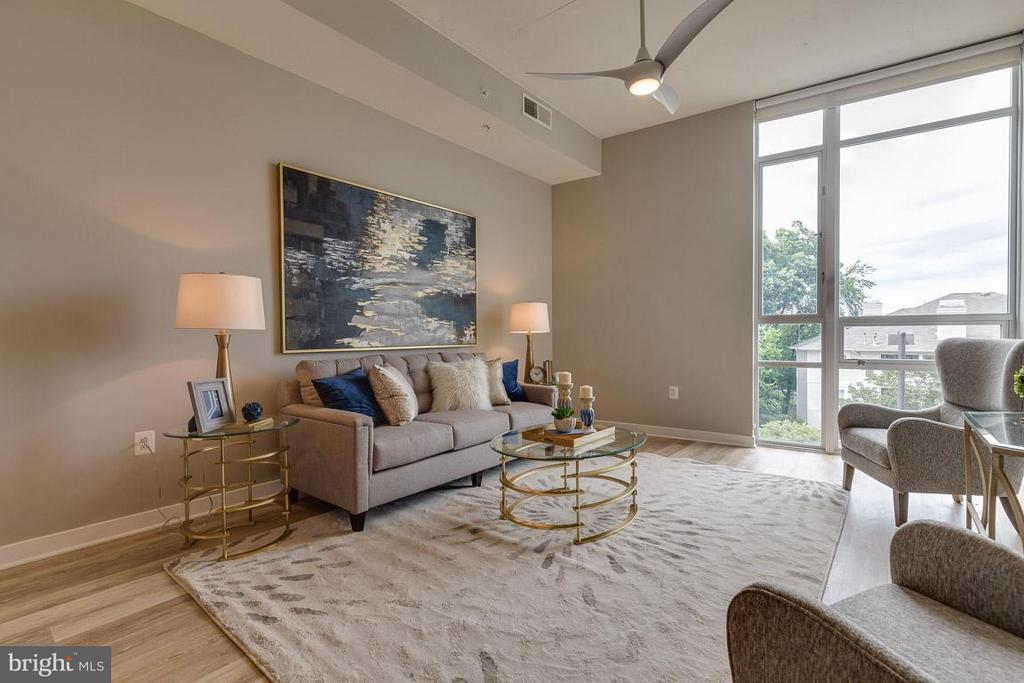 Living Room - 12025 NEW DOMINION PKWY #222, RESTON