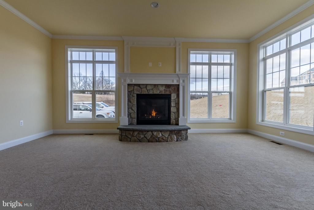 Stone Hearth and Custom Fireplace Mantle - 208 SAINT ANDREWS CT, WINCHESTER