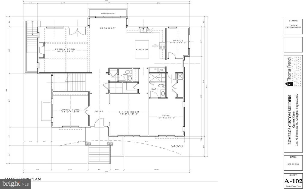 Main Level Floorplan - 3300 N POCOMOKE ST, ARLINGTON