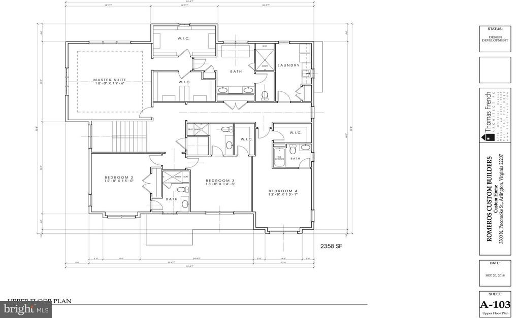 Upper Level Floorplan - 3300 N POCOMOKE ST, ARLINGTON