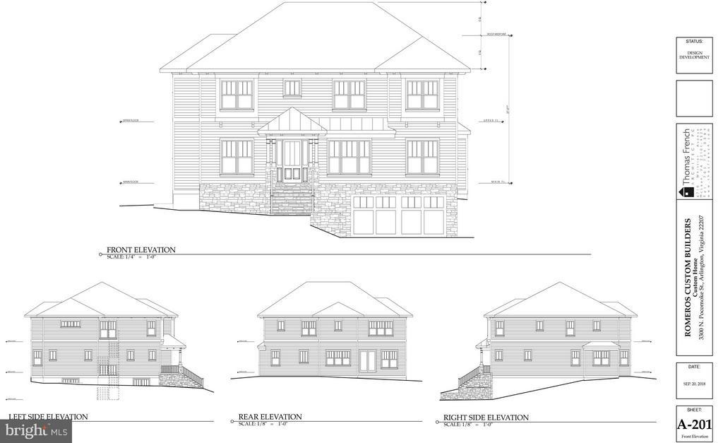 Elevation Drawings - 3300 N POCOMOKE ST, ARLINGTON
