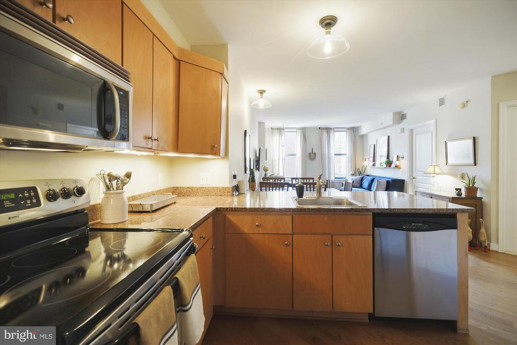 Gourmet kitchen with Stainless Steel Appliances - 616 E ST NW #804, WASHINGTON
