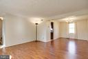 Living Room/Dining Room - 9811 FAIRMONT AVE, MANASSAS