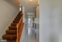Foyer leads to kitchen or upstairs - 9811 FAIRMONT AVE, MANASSAS