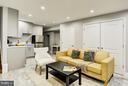lower level family room - 612 9TH ST NE, WASHINGTON