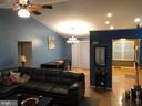 Living/Dining Area - 10311 COLD HARBOR DR, HAGERSTOWN
