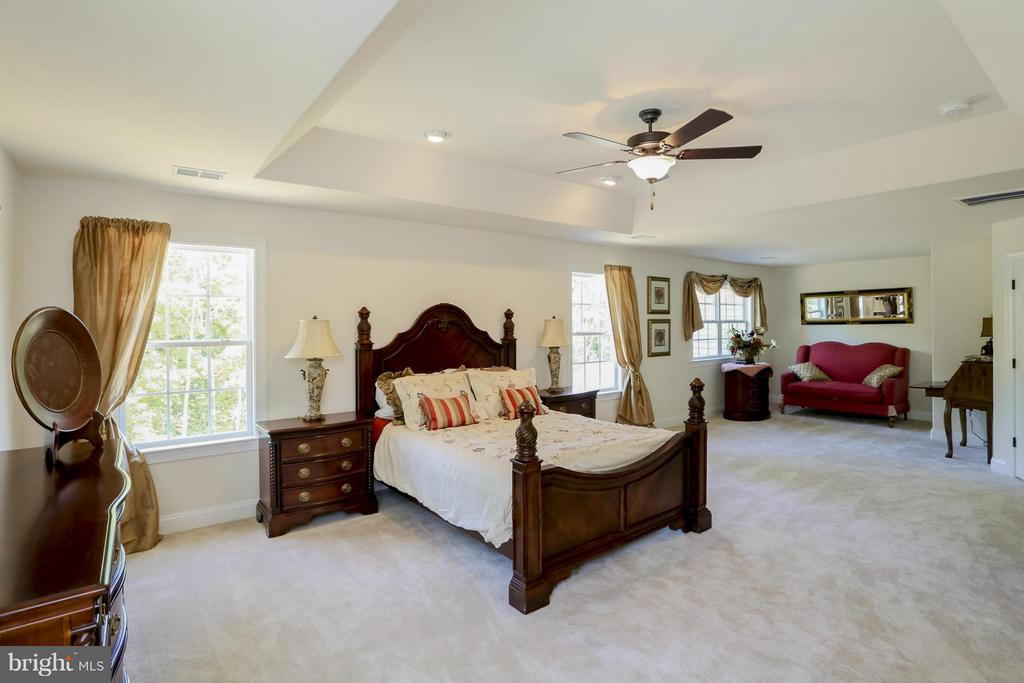 Large Master Bedroom with Sitting Room - 109 CAMP GEARY LN, STAFFORD
