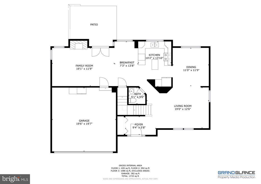 Main Level Floor Plan - 151 MORNING GLORY DR, WINCHESTER