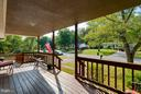 view off  front porch, relaxing in the afternoon - 309 OAKRIDGE DR, STAFFORD