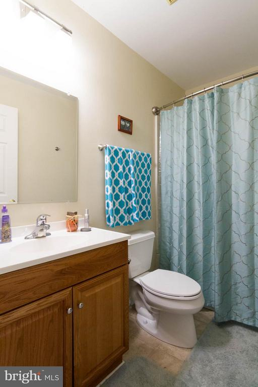 Shower tub combo in this large hall bath - 309 OAKRIDGE DR, STAFFORD