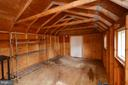Inside Storage Shed - 1309 BEECH RD, STERLING