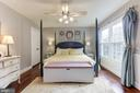 MASTER BEDROOM OVERLOOKS QUIET, PEACEFUL BACK YARD - 415 CLAGETT ST SW, LEESBURG