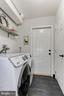LAUNDRY ROOM with FRONT LOADING WASHER and DRYER - 415 CLAGETT ST SW, LEESBURG