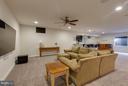 Home Theatre in the Rec Room - 44760 MALDEN PL, ASHBURN