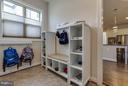 Large Mudroom with Storage - 44760 MALDEN PL, ASHBURN