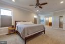 Spacious Master Bedroom with Crown Molding - 44760 MALDEN PL, ASHBURN