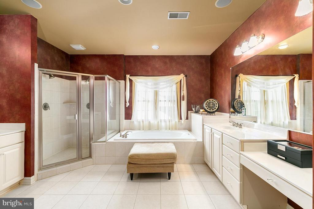 Large Master bath w/separate tub and shower - 43239 PARKERS RIDGE DR, LEESBURG
