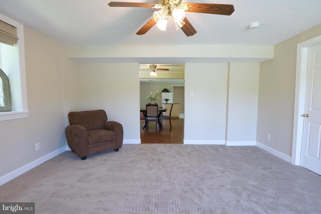 Basement living room. - 13108 LAUREL GLEN RD, CLIFTON