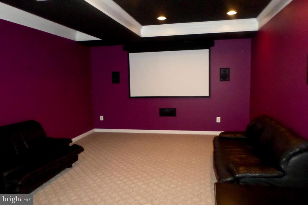 It is equipped with its own movie theater - 13504 CLASSIC OAKS CT, MANASSAS