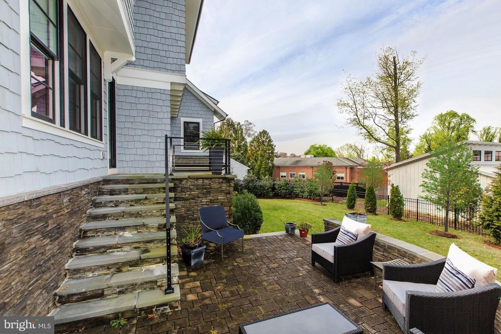 Rear Terrace - 4957 ROCK SPRING RD, ARLINGTON