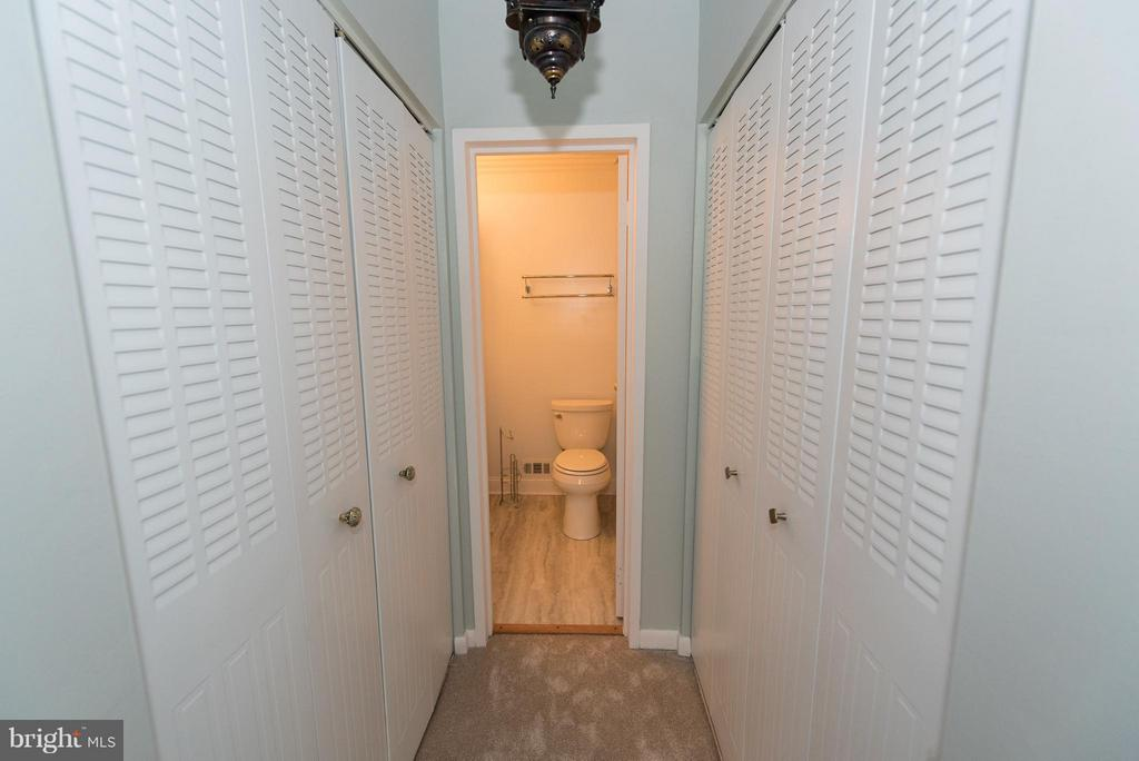 Dressing area with his and hers closets - 2358 SOFT WIND CT, RESTON