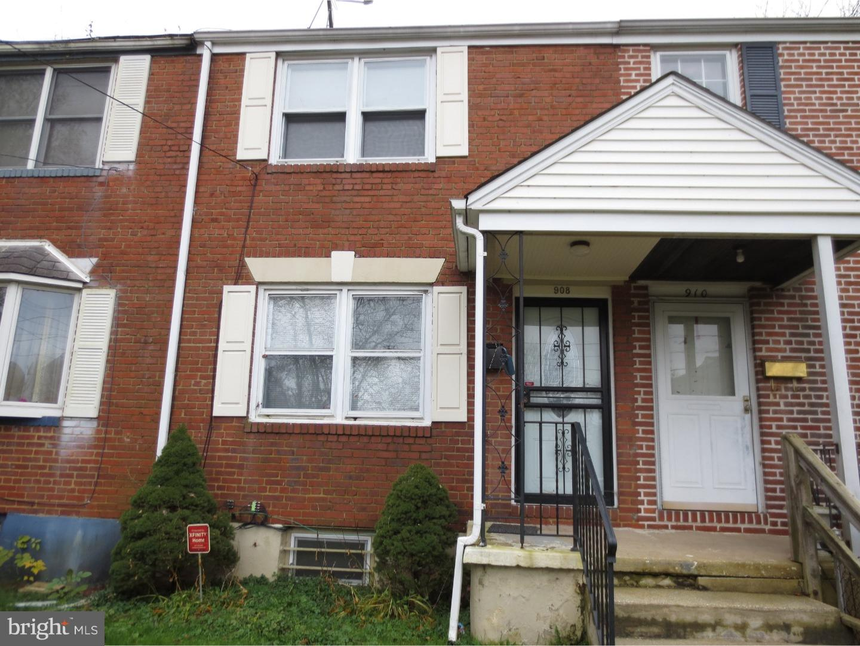 Enfamiljshus för Försäljning vid 908 DOVER Avenue 908 DOVER Avenue Elsmere, Delaware 19805 Förenta staterna