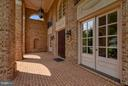 Front Masonry Porch - 43422 CLOISTER PL, LEESBURG