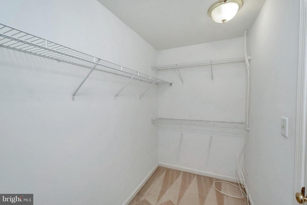 Master bedroom Closet - 11414 WYTHEVILLE CT, FREDERICKSBURG
