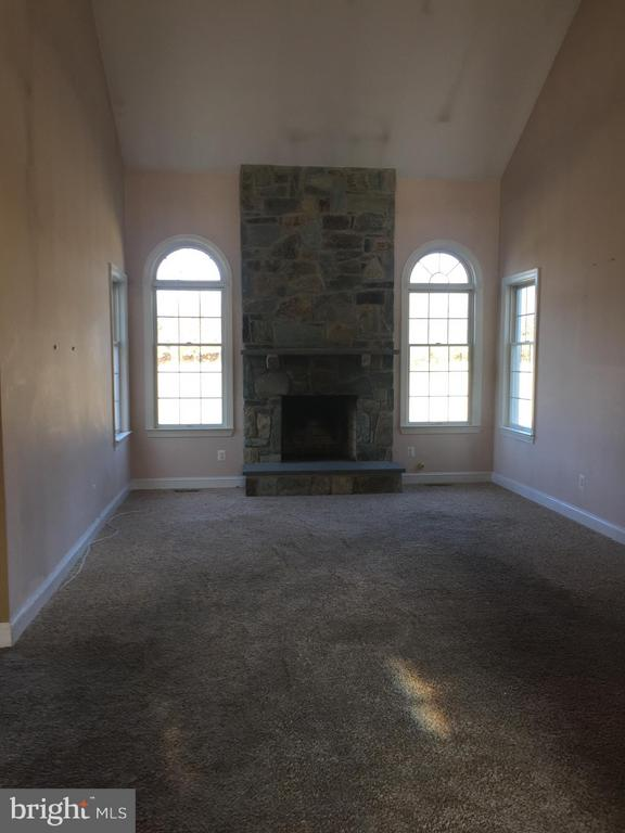 Family Room with Wood Burning FP - 40908 BEECHNUT RD, LEESBURG