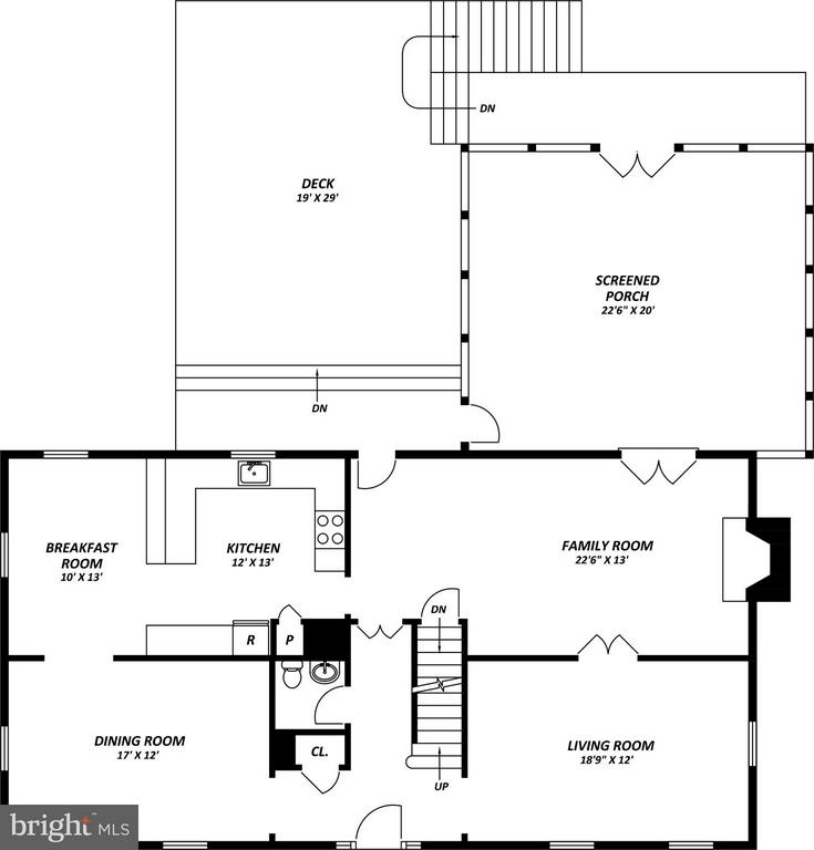 Lower Level Layout - 9350 MOUNT VERNON CIR, ALEXANDRIA