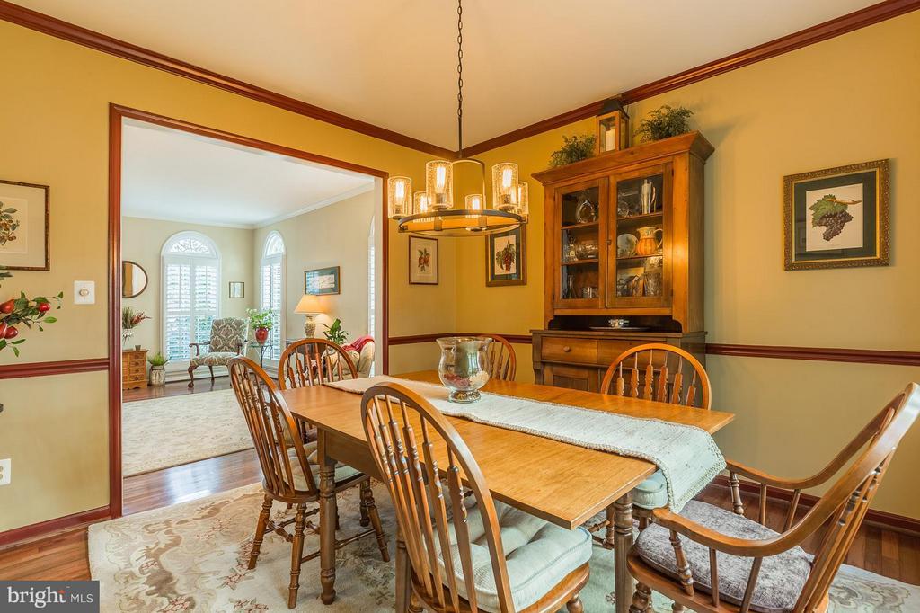 Formal Dining Room w/ Hardwood Floors - 8709 MIDDLEFORD DR, SPRINGFIELD