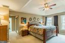 Spacious Master Bedroom with Tray Ceiling - 8709 MIDDLEFORD DR, SPRINGFIELD