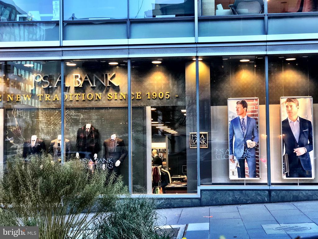 Many retailers in the neighborhood like Jos A Bank - 1830 JEFFERSON PL NW #1, WASHINGTON
