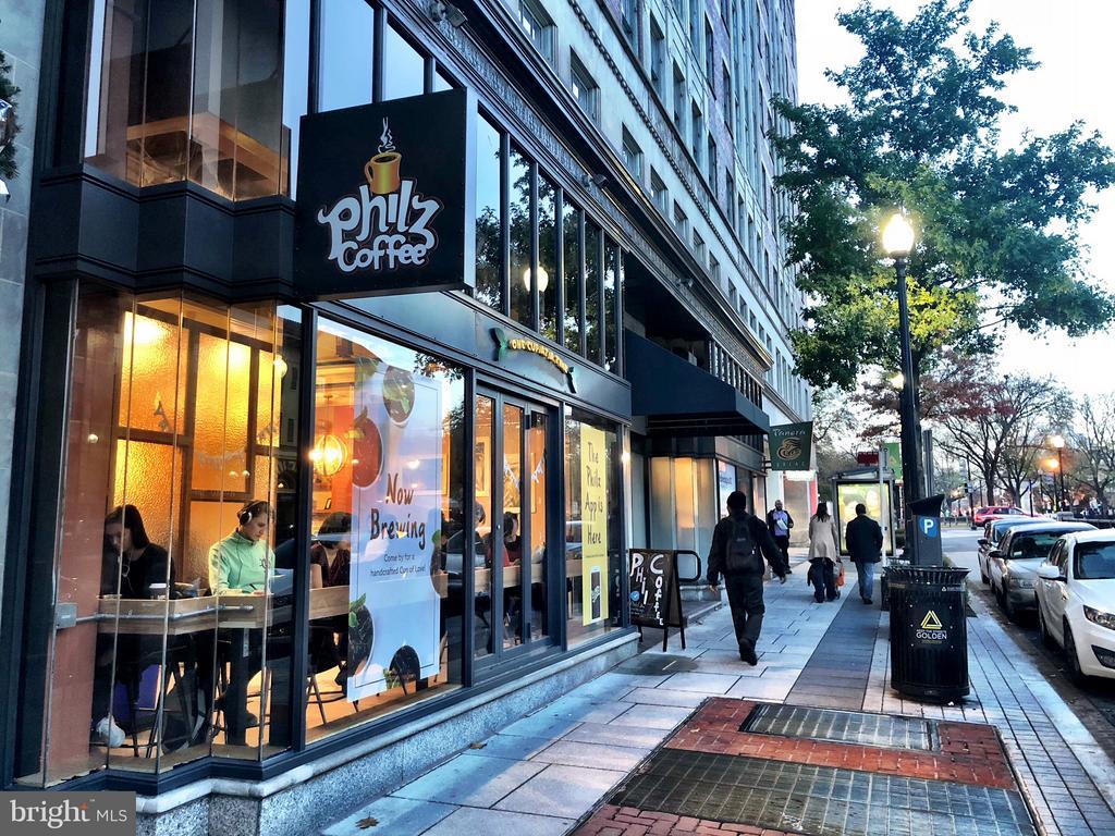 Coffee shops like Philz just down the street - 1830 JEFFERSON PL NW #1, WASHINGTON