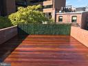 Priv. terrace w/ plumbing/gas for outdoor kitchen - 1524 18TH ST NW #PENTHOUSE, WASHINGTON