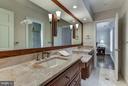 Jack and Jill Bathroom Upper Level - 10408 BIT AND SPUR LN, POTOMAC