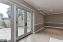Lower Level Exit to Patio and Side Yard - 10408 BIT AND SPUR LN, POTOMAC