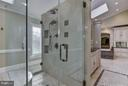 Glass Shower in Master Bathroom - 10408 BIT AND SPUR LN, POTOMAC