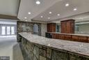 Stone Bar and Counter Lower Level - 10408 BIT AND SPUR LN, POTOMAC