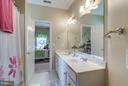 Bathroom with Dual Entry for Bedroom 2 and 3 - 42966 CORALBELLS PL, LEESBURG
