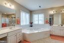 Master Bath with 2 Vanities, WPool Tub and Shower - 42966 CORALBELLS PL, LEESBURG