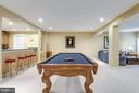 Fully finished Lower Level with Pool Table - 42966 CORALBELLS PL, LEESBURG