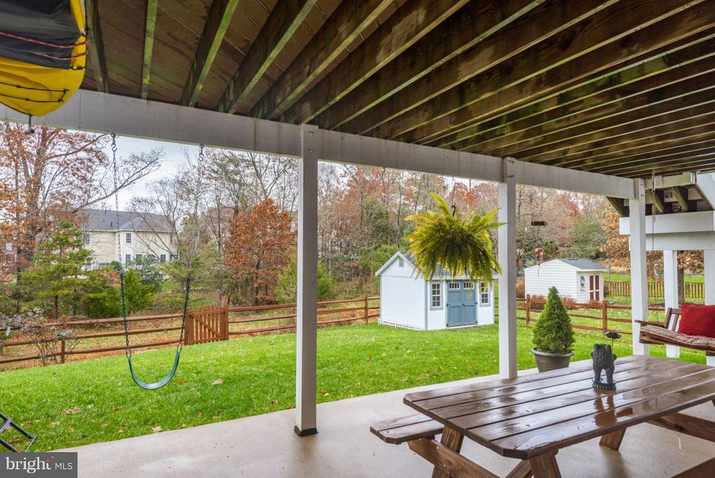 Newly built Shed in Back Yard - 42966 CORALBELLS PL, LEESBURG