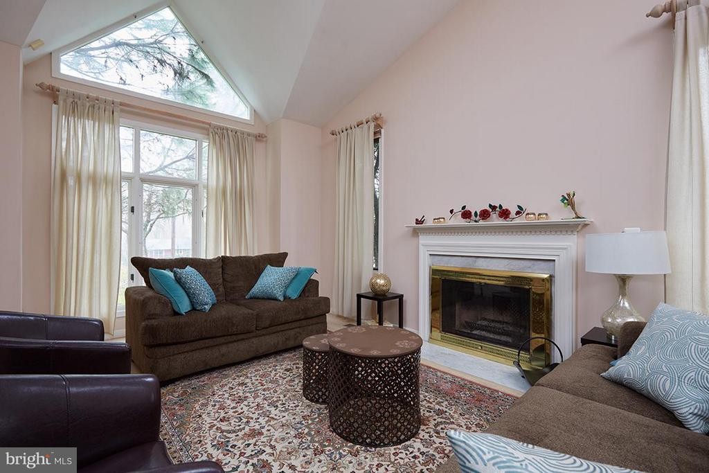 Gas fireplace - 8317 TOMLINSON AVE, BETHESDA